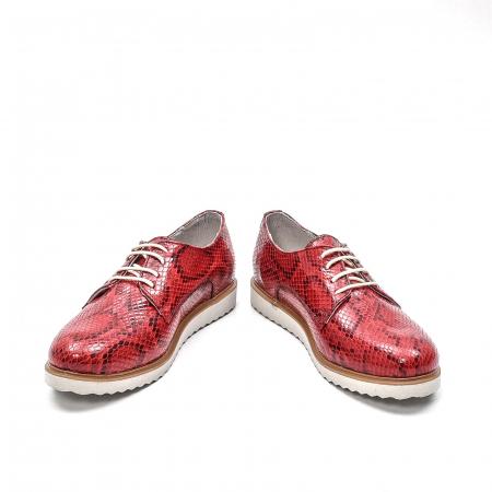 Pantofi dama casual din piele naturala, 201673CRO, rosu4