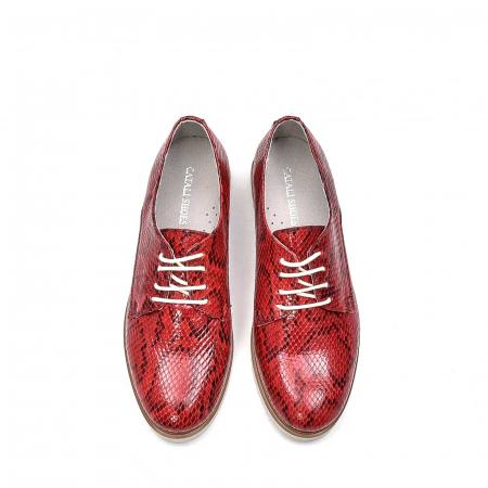 Pantofi dama casual din piele naturala, 201673CRO, rosu5