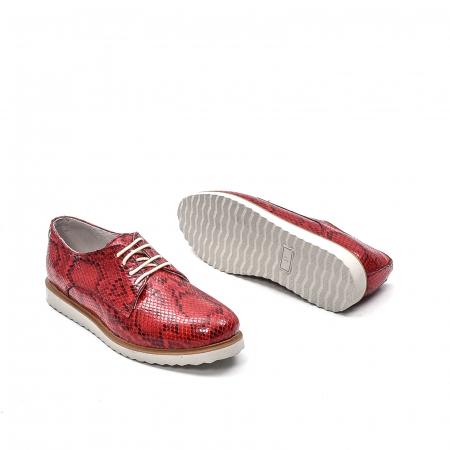 Pantofi dama casual din piele naturala, 201673CRO, rosu3