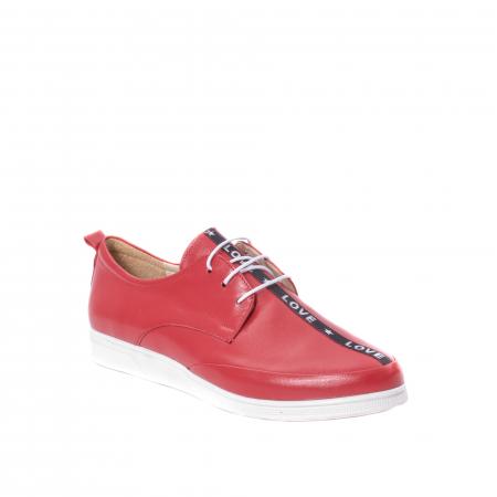 Pantofi casual dama piele naturala Nike Invest 337, rosu0