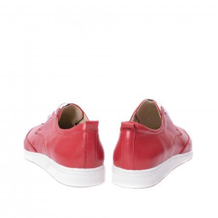 Pantofi casual dama piele naturala Nike Invest 337, rosu6