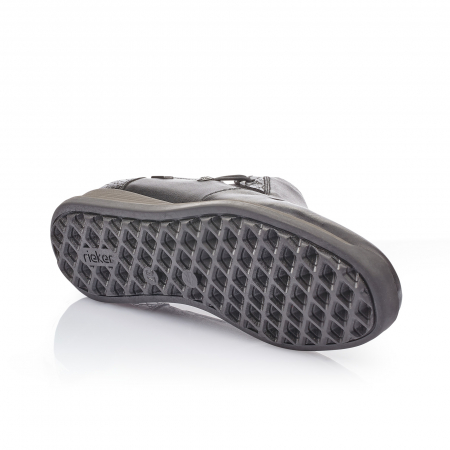 Pantofi casual dama piele naturala Rieker 44254, negru2