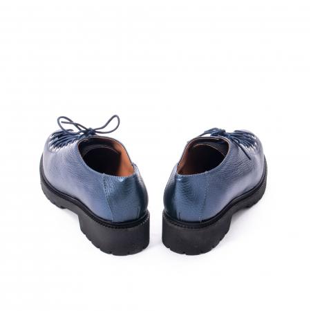 Pantofi casual dama, Leofex piele naturala 561 blue metalic6