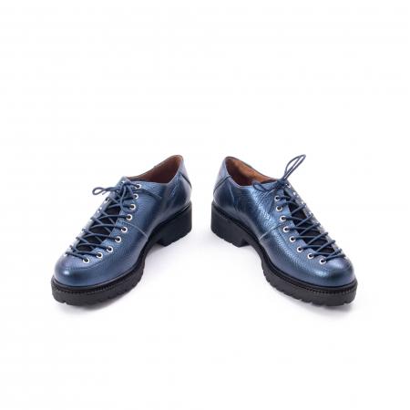 Pantofi casual dama, Leofex piele naturala 561 blue metalic4