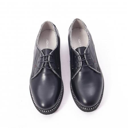 Pantofi casual dama, piele naturala Catali 171610 negru5