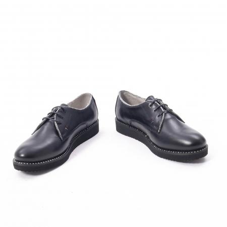 Pantofi casual dama, piele naturala Catali 171610 negru4