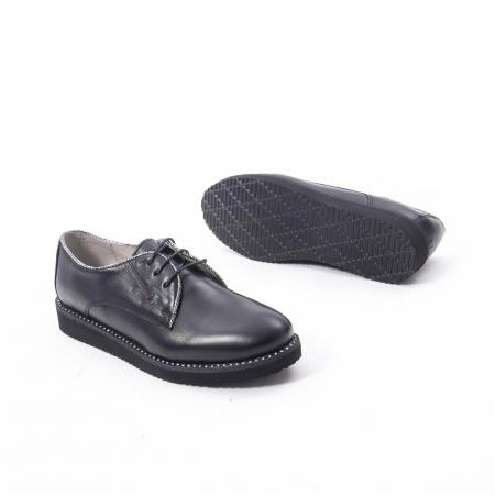 Pantofi casual dama, piele naturala Catali 171610 negru3
