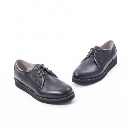 Pantofi casual dama, piele naturala Catali 171610 negru1