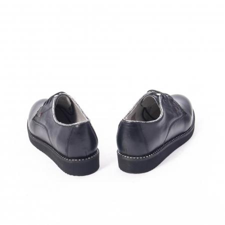 Pantofi casual dama, piele naturala Catali 171610 negru6