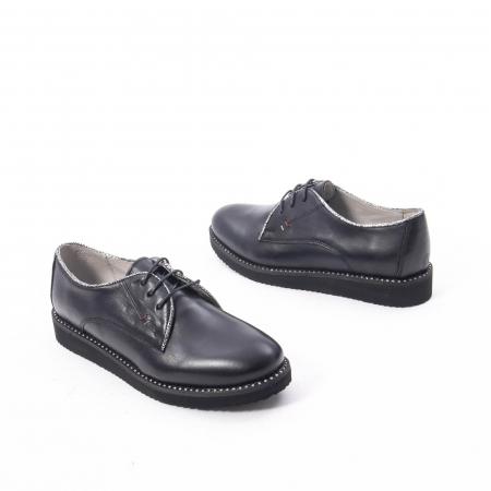 Pantofi casual dama, piele naturala Catali 171610 negru2