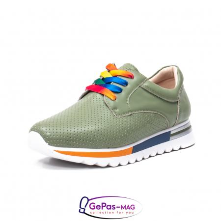 Pantofi casual dama, piele naturala, H3D2330 V