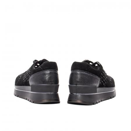 Pantofi dama casual, piele naturala intoarsa, IC6083606