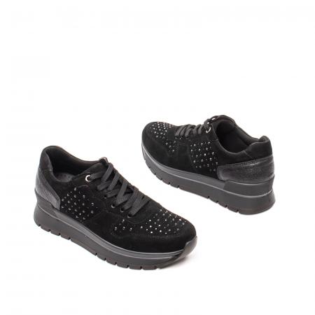 Pantofi dama casual, piele naturala intoarsa, IC6083602