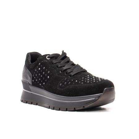 Pantofi dama casual, piele naturala intoarsa, IC6083600
