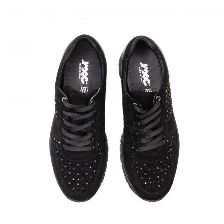Pantofi dama casual, piele naturala intoarsa, IC6083605