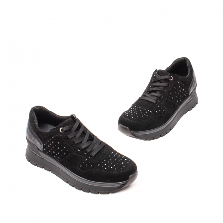 Pantofi dama casual, piele naturala intoarsa, IC6083601