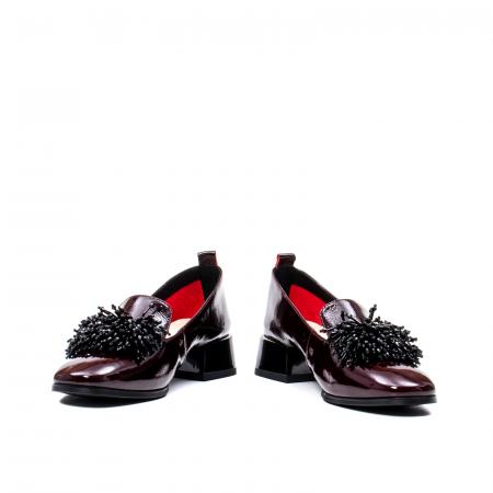 Pantofi casual dama, piele naturala lacuita, J7H551 B4