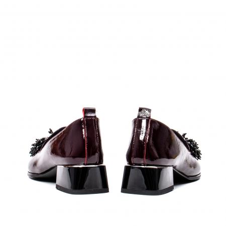 Pantofi casual dama, piele naturala lacuita, J7H551 B6
