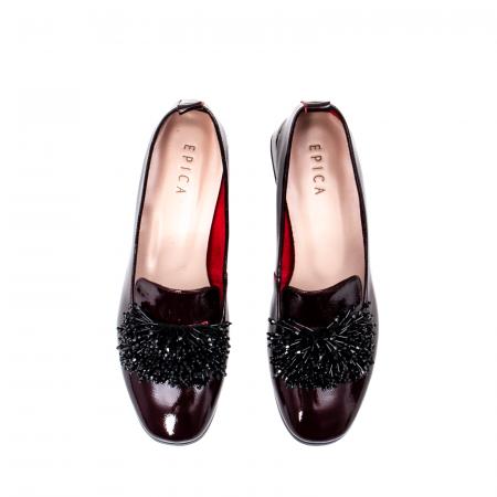 Pantofi casual dama, piele naturala lacuita, J7H551 B5