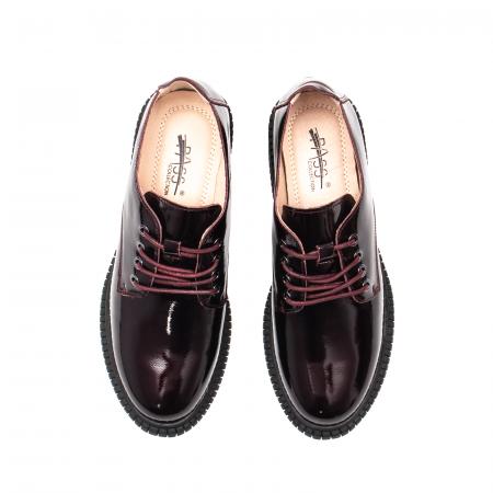Pantofi dama casual, piele naturala lacuita, J8B21601 B5