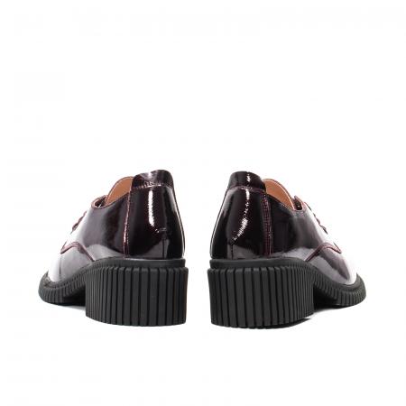 Pantofi dama casual, piele naturala lacuita, J8B21601 B6
