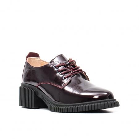 Pantofi dama casual, piele naturala lacuita, J8B21601 B0