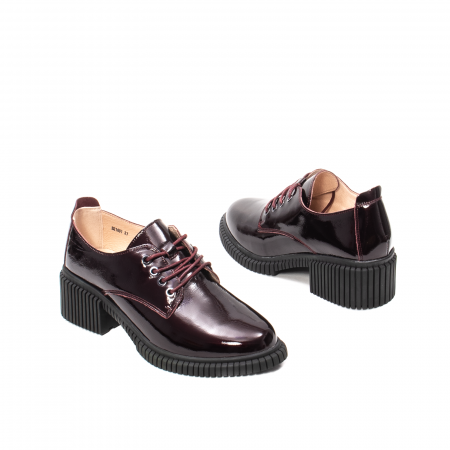 Pantofi dama casual, piele naturala lacuita, J8B21601 B2