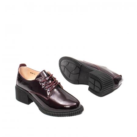 Pantofi dama casual, piele naturala lacuita, J8B21601 B3