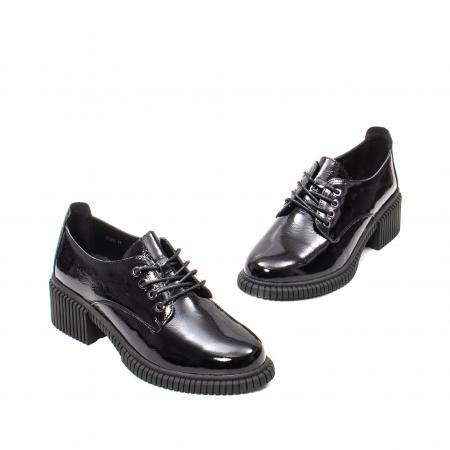 Pantofi dama casual, piele naturala lacuita, J8B21601 N1
