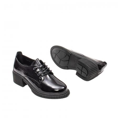 Pantofi dama casual, piele naturala lacuita, J8B21601 N3