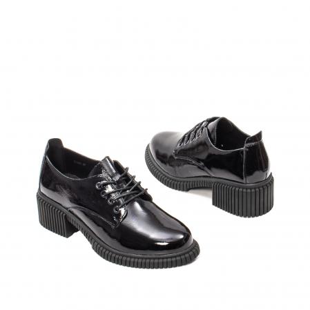 Pantofi dama casual, piele naturala lacuita, J8B21601 N2
