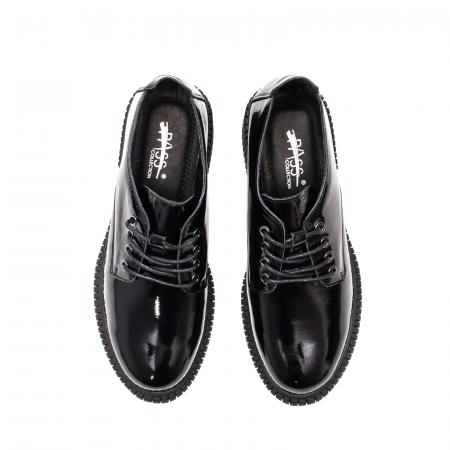 Pantofi dama casual, piele naturala lacuita, J8B21601 N5