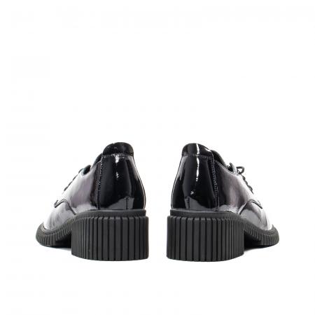 Pantofi dama casual, piele naturala lacuita, J8B21601 N6