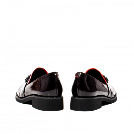 Pantofi casual dama, piele naturala lacuita, JIXS320 B6