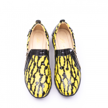 Pantofi casual dama piele naturala Nike Invest  340 galben/negru5