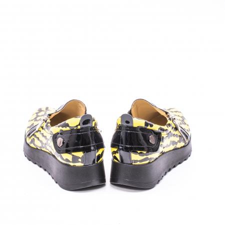 Pantofi casual dama piele naturala Nike Invest  340 galben/negru6