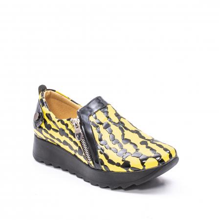 Pantofi casual dama piele naturala Nike Invest  340 galben/negru0