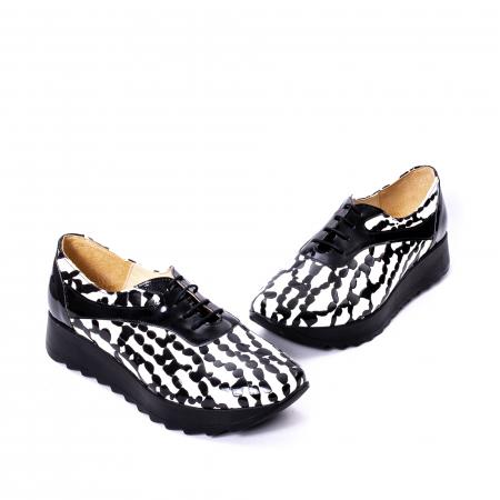 Pantofi casual dama piele naturala Nike Invest 346 alb-negru1