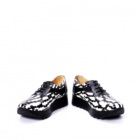 Pantofi casual dama piele naturala Nike Invest 346 alb-negru4