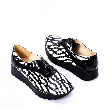 Pantofi casual dama piele naturala Nike Invest 346 alb-negru2