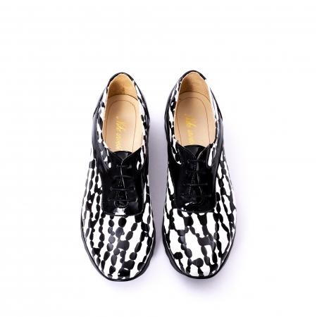Pantofi casual dama piele naturala Nike Invest 346 alb-negru5