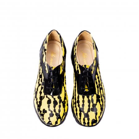 Pantofi casual dama piele naturala Nike Invest 346, galben/negru5