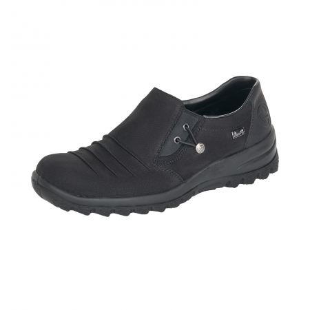 Pantofi casual dama, piele naturala nubuc, L7154-000