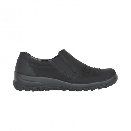 Pantofi casual dama, piele naturala nubuc, L7154-001