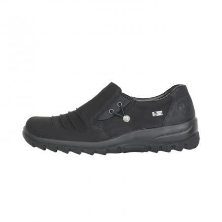 Pantofi casual dama, piele naturala nubuc, L7154-004