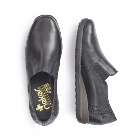 Pantofi casual dama, piele naturala Rieker 44264, negru1