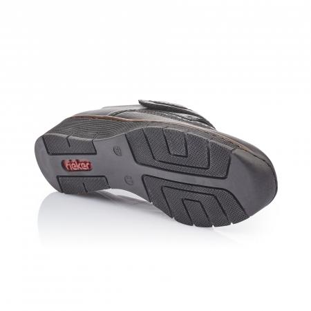 Pantofi casual dama piele naturala Rieker 537C0-00, negru3