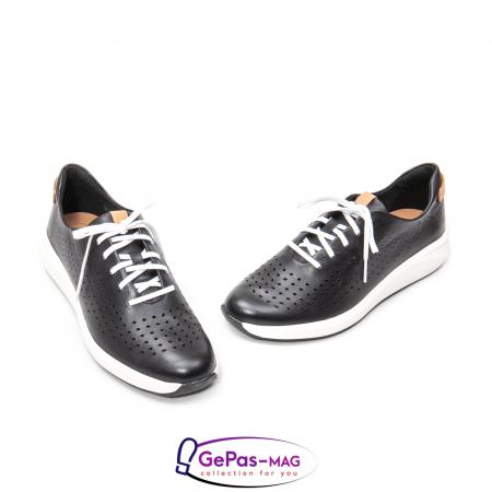 Pantofi casual dama, piele naturala Un Rio Tie CL26141