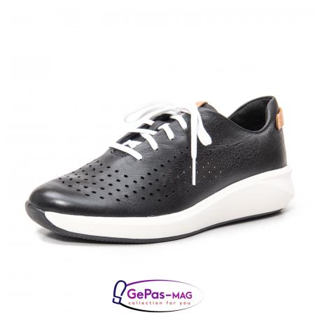 Pantofi casual dama, piele naturala Un Rio Tie CL26140