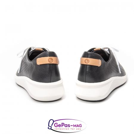 Pantofi casual dama, piele naturala Un Rio Tie CL26144